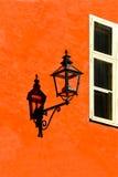墙壁灯笼 免版税库存照片