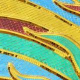 墙壁用五颜六色的玻璃纹理装饰 库存照片