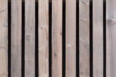 墙壁由棕色木板条制成 免版税库存图片