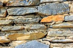 墙壁由石头做 免版税库存照片
