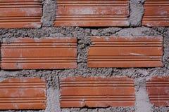 墙壁由砖和水泥制成 免版税图库摄影