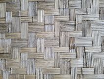 墙壁由竹抽象背景做了 免版税库存图片