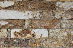 墙壁由自然岩石做成 免版税库存图片