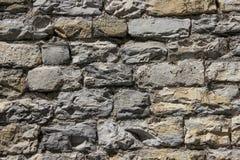 墙壁由自然石头制成 库存图片