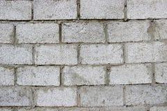 墙壁由granolith块做成 免版税库存图片