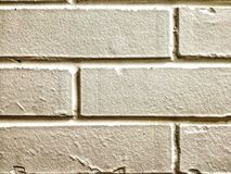 墙壁白色砖背景 免版税库存图片