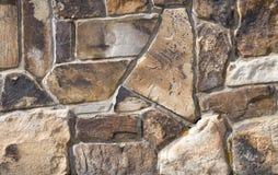 墙壁的接近的石头 库存照片
