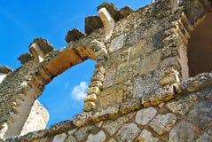 墙壁的接近的部分石头 免版税图库摄影