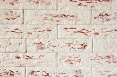 墙壁的片段由装饰砖做成 库存照片