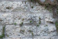 墙壁的纹理由大岩石做成 免版税库存图片