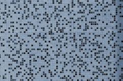 墙壁的纹理,装饰用各种各样的小方形的瓦片马赛克  陶瓷砖的抽象样式在wal的 免版税库存图片