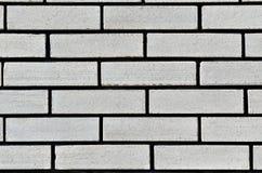 墙壁的纹理从一块白色硅酸盐砖的 免版税库存照片