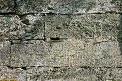 墙壁的纹理 著名Pudost石头鸣鸟公园 库存图片