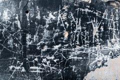 黑墙壁的纹理 库存照片