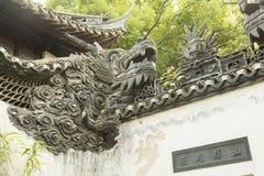 墙壁的细节在Yu庭院在上海,中国 图库摄影
