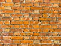 墙壁的背景 红砖纹理 免版税库存照片