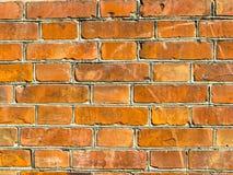 墙壁的背景 红砖纹理 图库摄影
