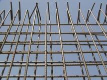 墙壁的脚手架框架 库存照片
