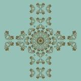墙壁的蓝色无缝的样式 墙纸织品纺织品设计 库存照片