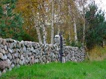 墙壁石头 库存图片