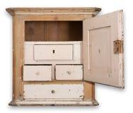 墙壁碗柜机柜查出 库存照片