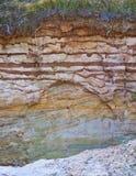 墙壁粘土矿坑 库存图片