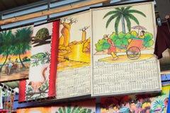 墙壁纪念品日历 图阿马西纳,马达加斯加 库存图片