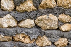 墙壁纹理从粗砺的石头的 免版税库存图片