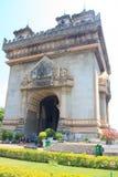 墙壁老挝的曲拱吸引力。 库存照片