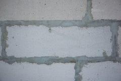 墙壁背景有砖的 从气体块的墙壁 酿造 免版税图库摄影