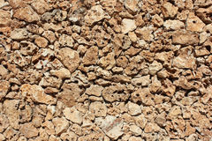 墙壁自然石头(砂岩) 免版税库存图片