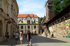 墙壁艺术在克拉科夫在波兰 免版税库存图片