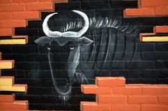 墙壁艺术 库存照片