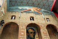 墙壁萨尔瓦多・达利博物馆在菲盖尔 库存图片
