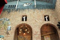 墙壁萨尔瓦多・达利博物馆在菲盖尔 免版税库存图片