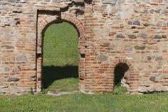 墙壁蒙塔尼亚纳帕多瓦意大利, 2014年10月 免版税库存照片