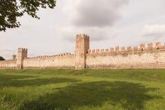 墙壁蒙塔尼亚纳帕多瓦意大利, 2014年10月 库存照片