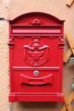 意大利语墙壁邮箱的红色再生产  免版税库存图片