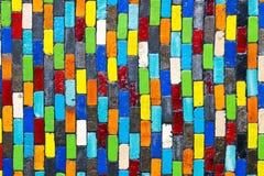 墙壁陶瓷砖五颜六色的纹理 免版税库存照片