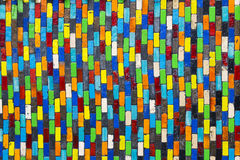 墙壁陶瓷砖五颜六色的纹理 免版税图库摄影