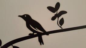 墙壁鸟黑色 免版税图库摄影
