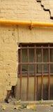 墙壁黄色 免版税图库摄影