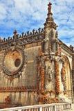 墙壁,复杂地装饰用塔楼 免版税库存照片