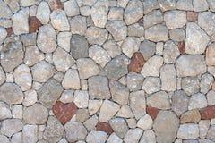 墙壁,自然石头石工没有水泥的 免版税图库摄影