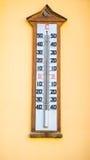墙壁类型温度计 免版税库存图片