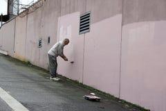 墙壁画家 图库摄影