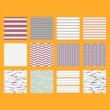 墙纸、织品印刷品和套纸的样式集合条纹无缝的设计 免版税图库摄影