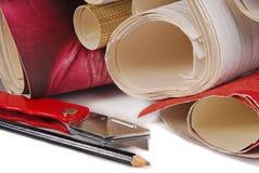 墙纸和工具 库存照片