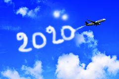 墙纸新年快乐2020年 免版税库存照片