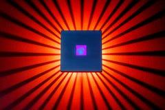 墙纸的橙色紫色和蓝色抽象背景我 图库摄影